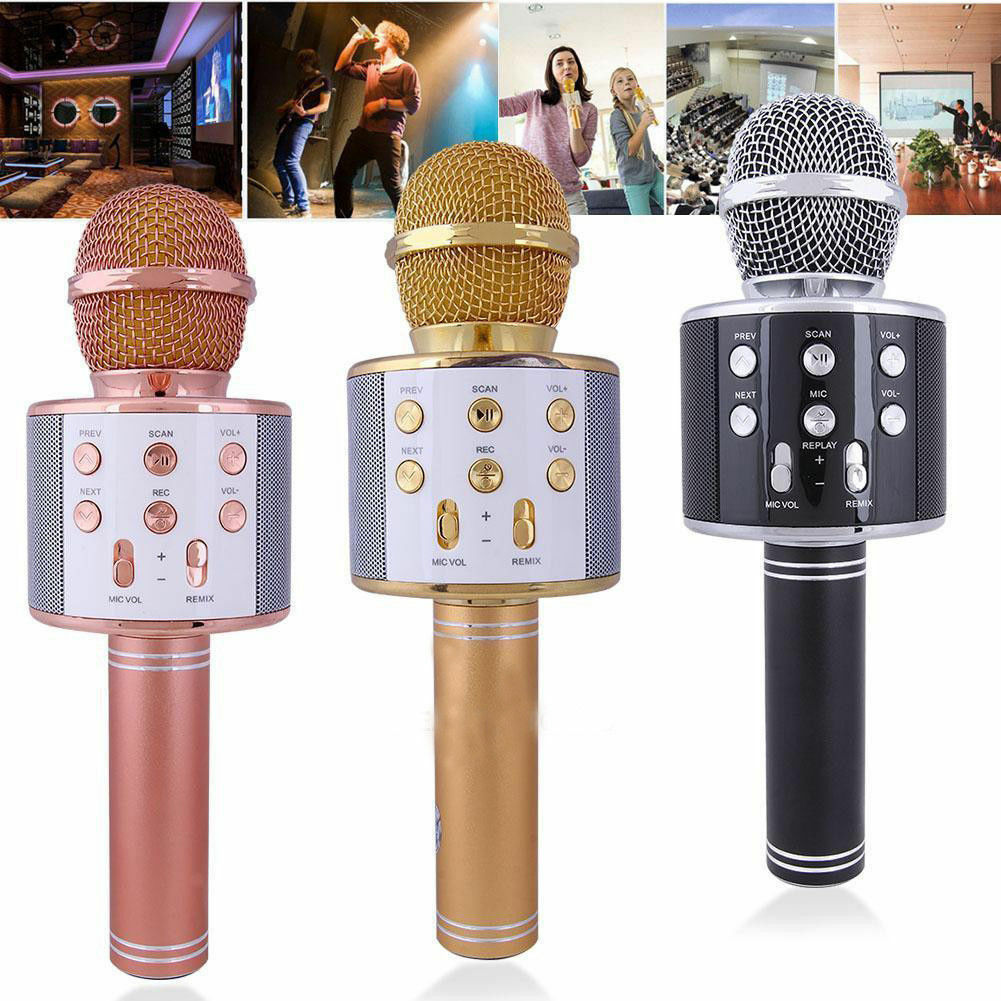 KTV- WS858 Wireless Karaoke Handheld Microphone USB Player B