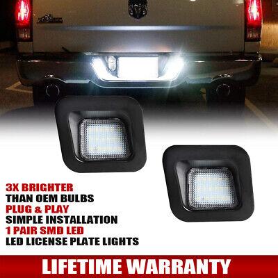 For 2003-2018 Dodge RAM 1500 2500 3500 3W LED License Plate Light Housing Pair