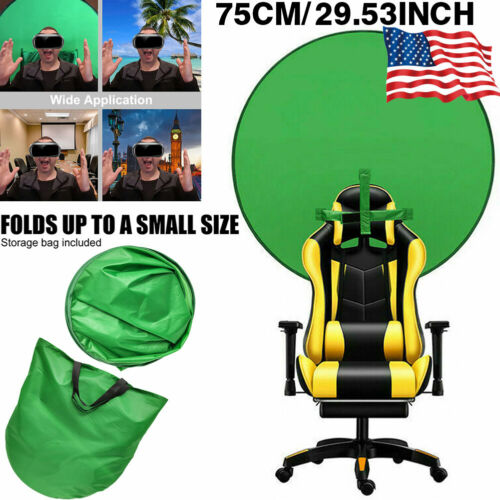Backdrop Photography Green Round Background Screen Portable Photo Video Studio