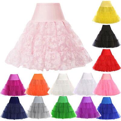 NEU Billig 1950er Vintage Petticoat Unterrock Swing Party Röcke Unterröcke Hoops