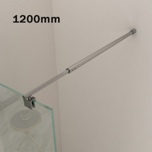 Edelstahl Stabilisator 120cm Wandhalterung für Duschwände Stabilisierungsstange