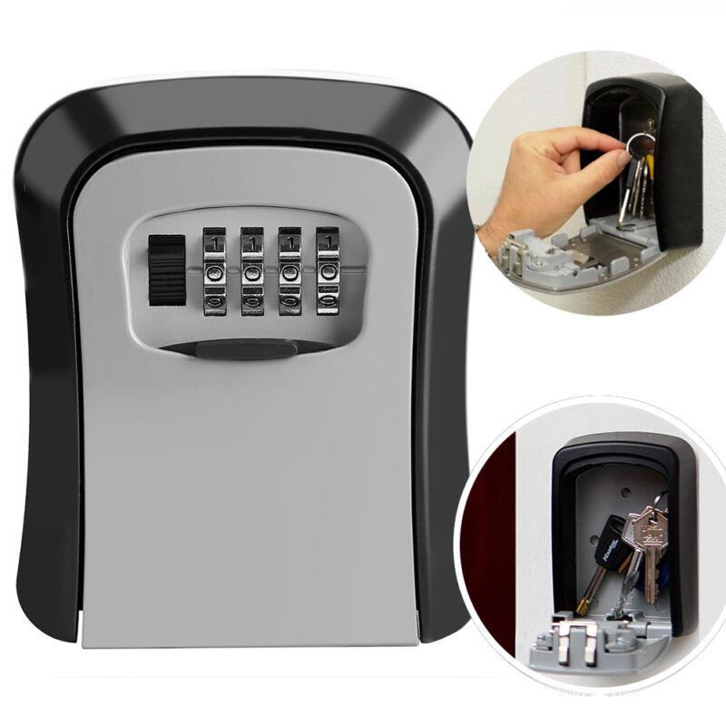 Key Storage Security Lock 4 Digit Safe Box for Outdoor House Car Keys Storage F