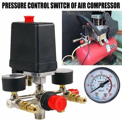 Air Compressor Pressure Control Switch Valve Manifold Regulator W Gauges 120psi