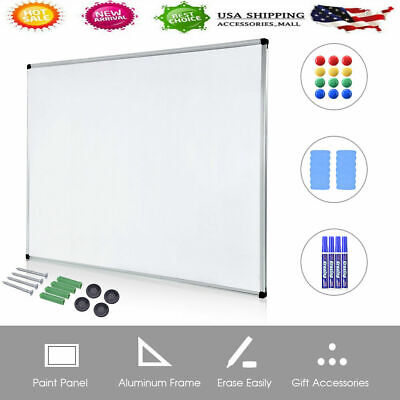 48 X 36 Large Marker Pen Magnetic White Board Dry Erase Board Eraser Office