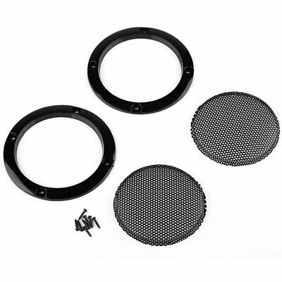 2PCS 3''inch Black Circle Speaker Cover Decor Circle With Protective Grille