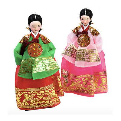 """Korean Traditional Handicraft Hanbok Dolls 12"""" The Queen Figure Gift Ver2 PINK"""