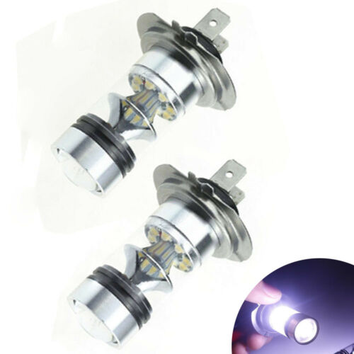 2X H7 100W CREE LED Fog Tail Driving Car Head Light Lamp Bulb White Super Bright