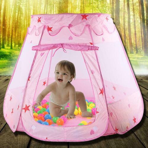 Kids Toys Princess Play Tent Girls 1-8 Years Old Balls Pink