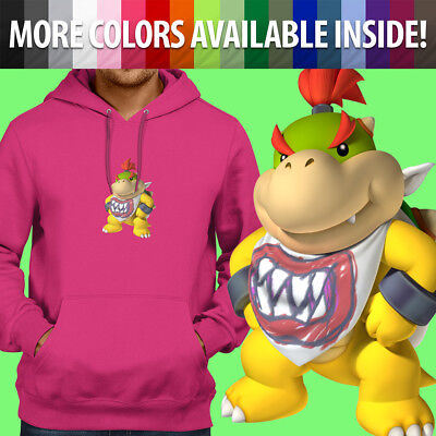 Nintendo Super Mario Bros Bowser Jr Koopa Son Pullover Sweatshirt Hoodie Sweater - Bowser Sons