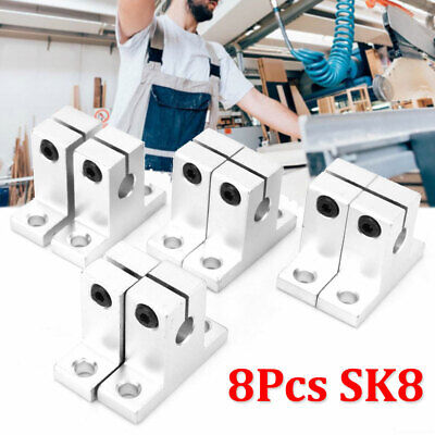 Sk8bearing Cnc Linear Rail Shaft Guide Support Stand 8pcs Aluminum Alloy
