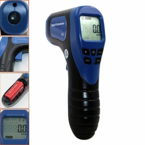 Digital Handheld LCD Photo Laser Tachometer RPM Meter Non-Contact Tach Tool