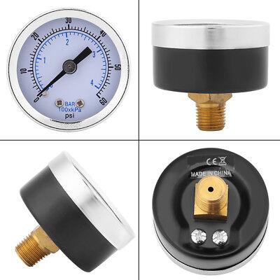 0-60psi0-4bar 18 Bspt Thread Pressure Gauge Manometer For Gas Water Oil Ssp