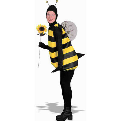 Bumble Bee Costume Black Yellow Stinger Wings Antennae Insect Bug Adult](Bee Stinger Costume)
