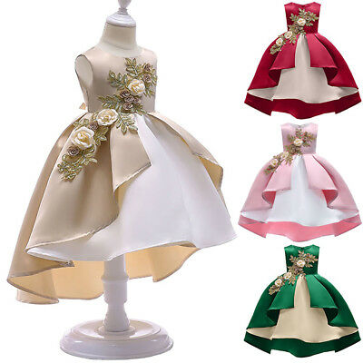 Toddler Kids Baby Girls Ruffle Dress Princess Party Lace Flower Dresses Wedding - Girls Dresses Winter