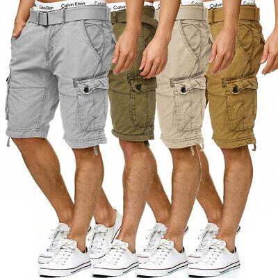 INDICODE Cargo Shorts Bermuda kurze Hose inkl. Gürtel 100% Baumwolle 7 Farben