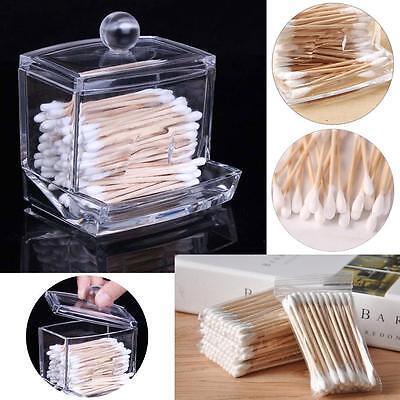 Acrylic Storage Cotton Ball Swab Pad Organizer Holder Bathroom Container PR PR Cotton Ball Holder