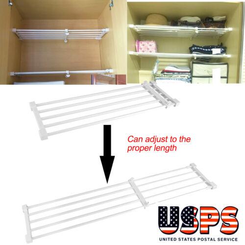 Telescopic Closet Tension Shelf Cupboard Wardrobe Partition