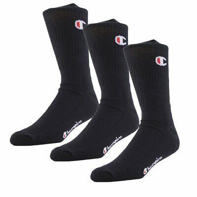 Socken Champion 3 Pack Crew Sock Schwarz Herren (Champion Herren Crew Socken)