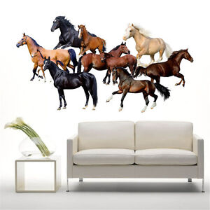Home Living Room Decor Art Horse Wall Decal Stickers Bedroom Removable Mural DIY