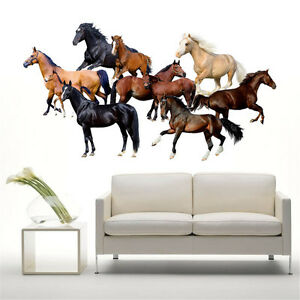 Bon Home Living Room Decor Art Horse Wall Decal Stickers Bedroom Removable  Mural DIY