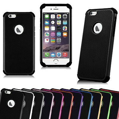 5 x Shockproof Rugged Hybrid Rubber Hard Cover Dual Layer silicon iPhone 6 case