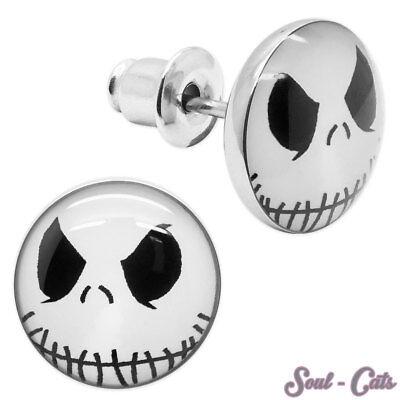 1 Paar Ohrstecker Halloween Nightmare Grusel Geister Gespenst Skelett Animation - Halloween Paar