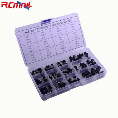 145pcs Inductor Choke Assortment Kit Plastic Box 12values 10uh-10mh