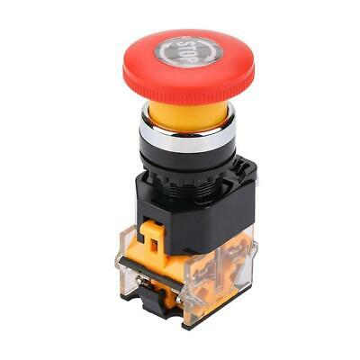 1 Pc Cnc Red Rotary Emergency Stop Mushroom Pushbutton Switch Free Shipping 2
