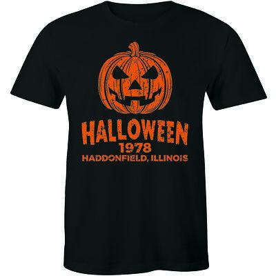 Halloween Movie 1978 Pumpkin (Halloween 1978 T Shirt Horror Movie Haddonfield Pumpkin Head TV Show)
