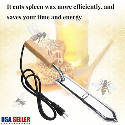 110v Electric Scraping Honey Extractor Uncapping Hot Knife Beekeeping Equipment