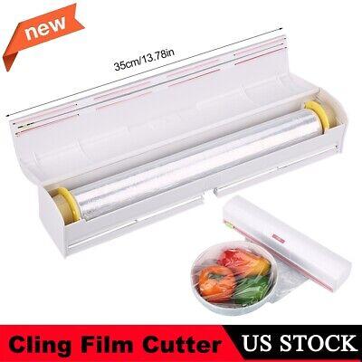 Kitchen Foil Cling Film Wrap Dispenser/Slide Cutter Plastic Storage Holder Tool Foil Wrap Dispenser