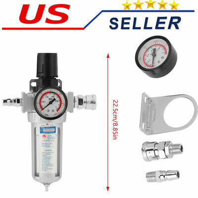 14inch Air Compressor Moisture Water Separator Trap Tool With Mount Connection