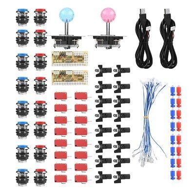16x LED Ersatz Button Kit inkl. Joystick & USB Encoder für Arcade Spielautomaten Encoder Kit