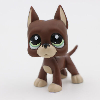 littlest Pet Shop Animals LPS 1519 Chocolate Great Dane Dog Green Eyes Puppy Kid