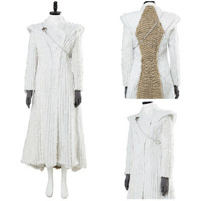 Game of Thrones S7 Daenerys Dragonstone Cosplay Costume Outfit Winter Snow - Gaming Costumes