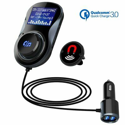 Wireless Bluetooth in Car Kit FM Transmitter Radio MP3 USB Charger Hands-free ~~ Fm Hands Free Car