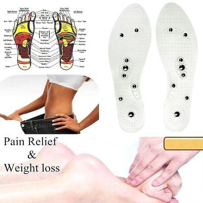 Unisex Silikon Magnetische Einlegesohlen Massagesohlen Fußmassage Schuhsohlen ()
