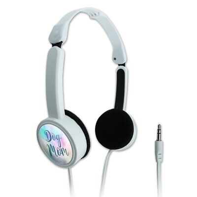 Dog Mom Novelty Travel Portable On-Ear Foldable Headphones