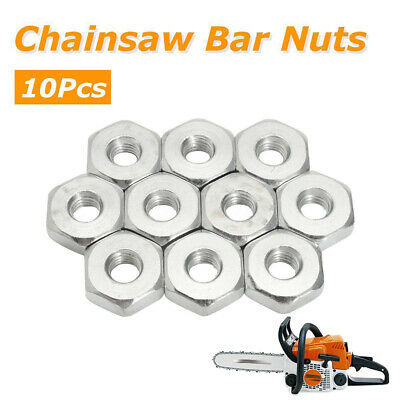 10Pcs Guide Bar Sprocket Cover 8mm Nuts for Stihl Chainsaws Solo Chain Saws NEW Guide Bar Cover