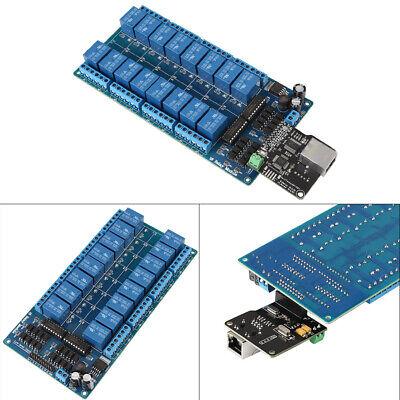 Ethernet Control Module Lan Wan Network Web Server Rj45 Port 16 Channel Relay