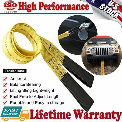2 X 6ft Nylon Eyeeye Web Lifting Sling Flat Loops Rigging Towing Hoist Straps