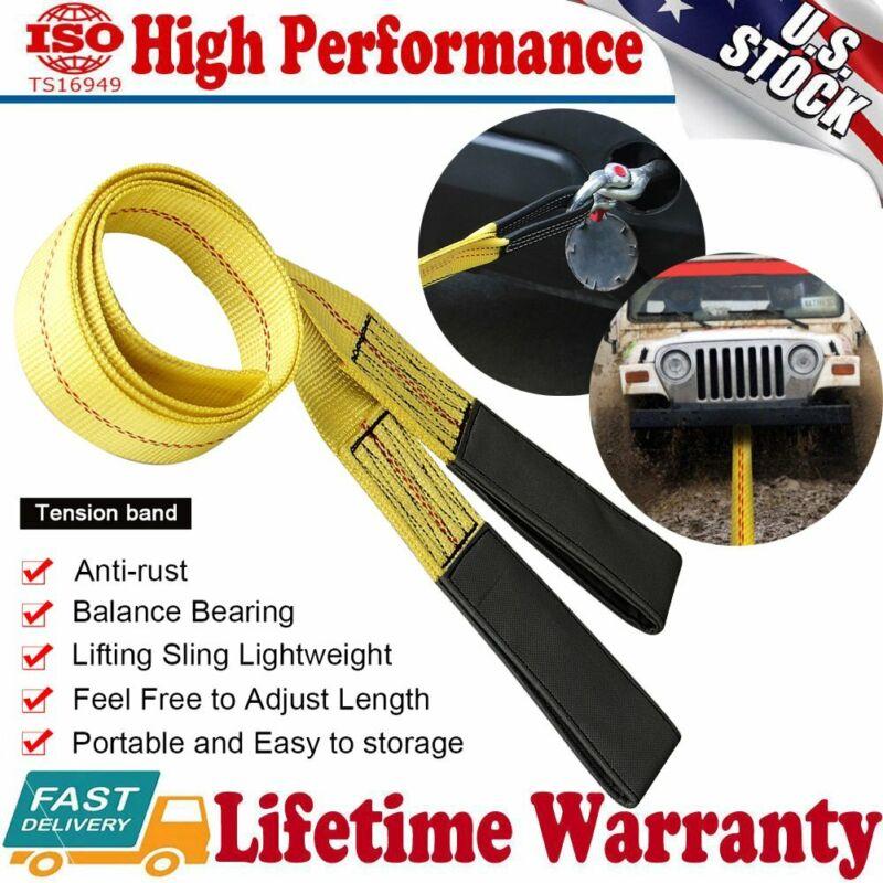 "2"" x 6FT Nylon Eye&Eye Web Lifting Sling Flat Loops Rigging Towing Hoist Straps"