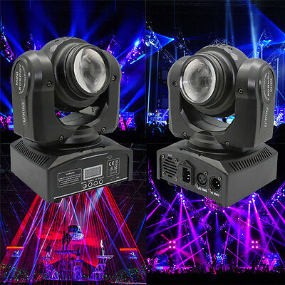 Double Sides 50W Stage Lighting RGBW LED Beam Moving Head DMX512 DJ Disco Lights