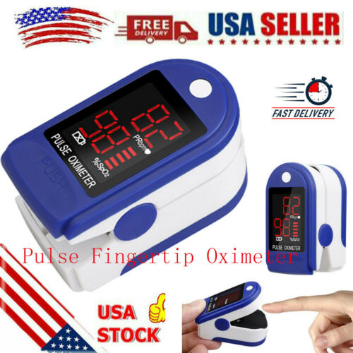 Pulse Fingertip Oximeter Blood Oxygen SpO2 Monitor PR PI Heart Rate FDA Approved