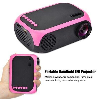TFT LED Projektor Mini Beamer HD 1080P Heimkino Video USB / SD / HDMI /