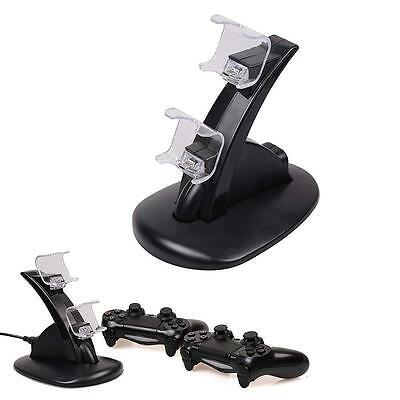 DUAL USB Charger Docking Station Charging Stand For PS4 Controller PLANE DESIGN
