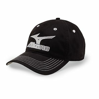 Mizuno Aruba Adjustable Men's Hat Cap Black/White OSFM One Size (#67764)