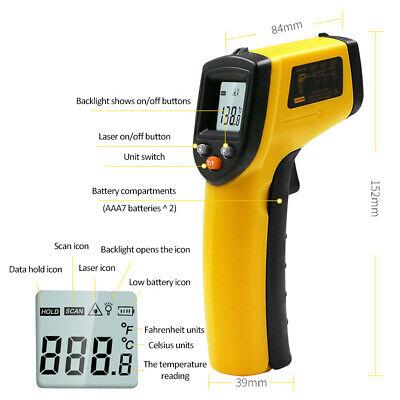 Gm320 Non-contact Lcd Ir Laser Digital Thermometer Digital Pyrometer