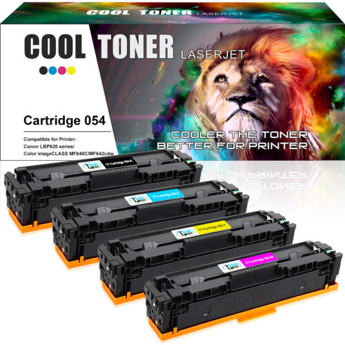 4 Pack Compatible for Canon CRG 054 Toner imageClASS MF644cdw MF641cw MF642cdw