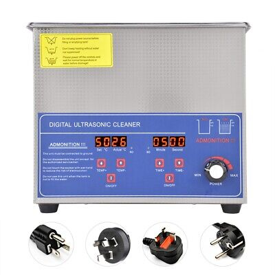 3l Ultrasonic Cleaner Solution Bath Wash Parts Tools Cutter Jewelry Dental